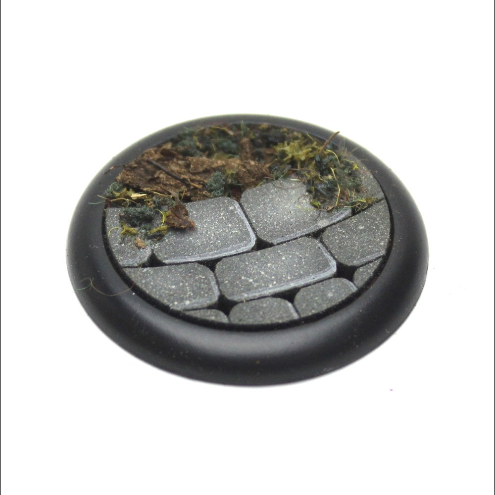 Curved Stone Base Insert Round Lip Deep With Recess