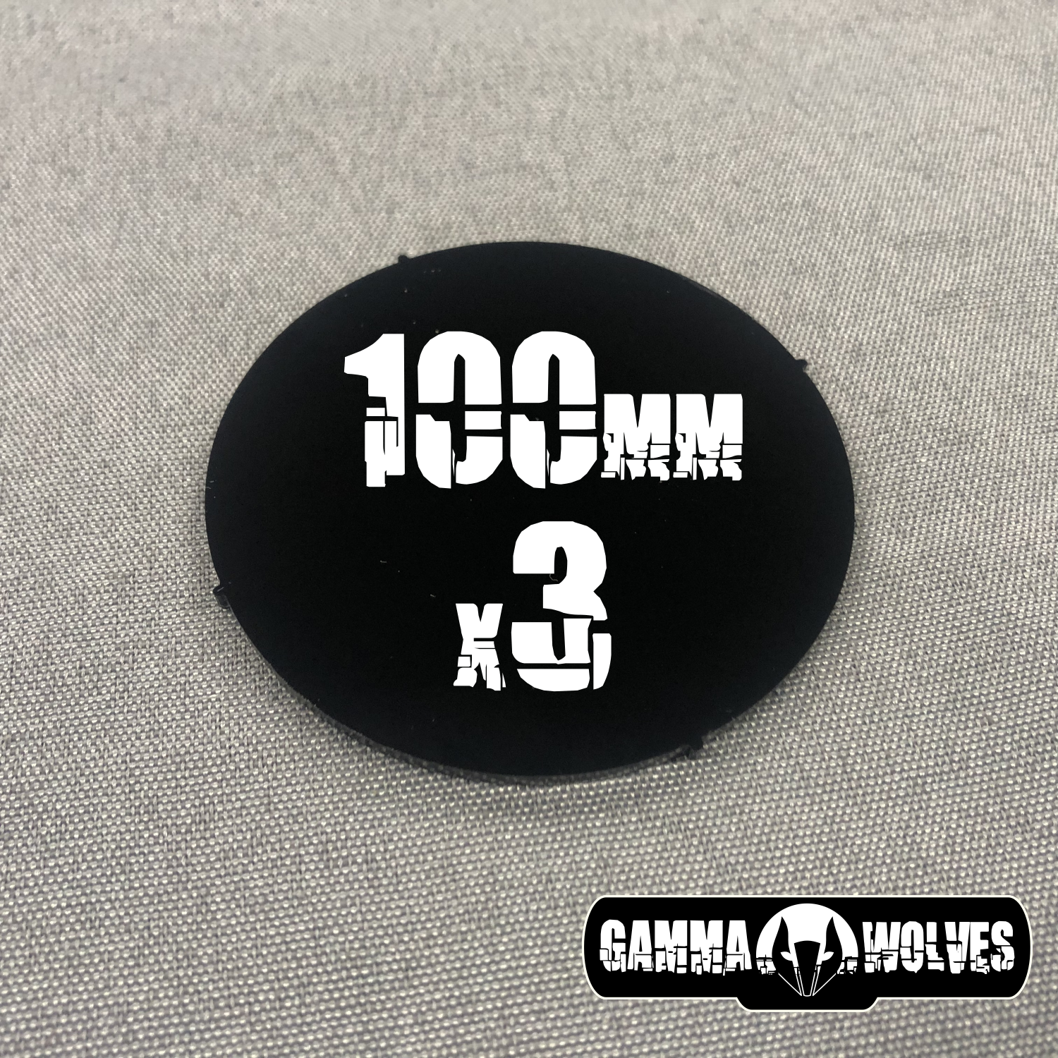 Gamma Wolves Acrylic 100mm Base 3-pack (model toy scale)