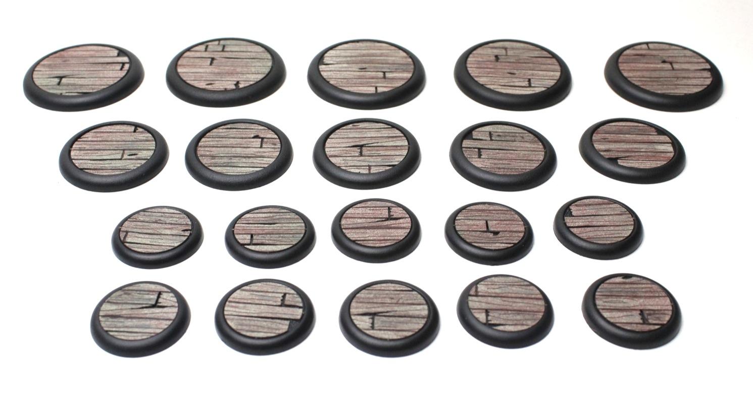 Wood Plank Base Inserts Round Lip