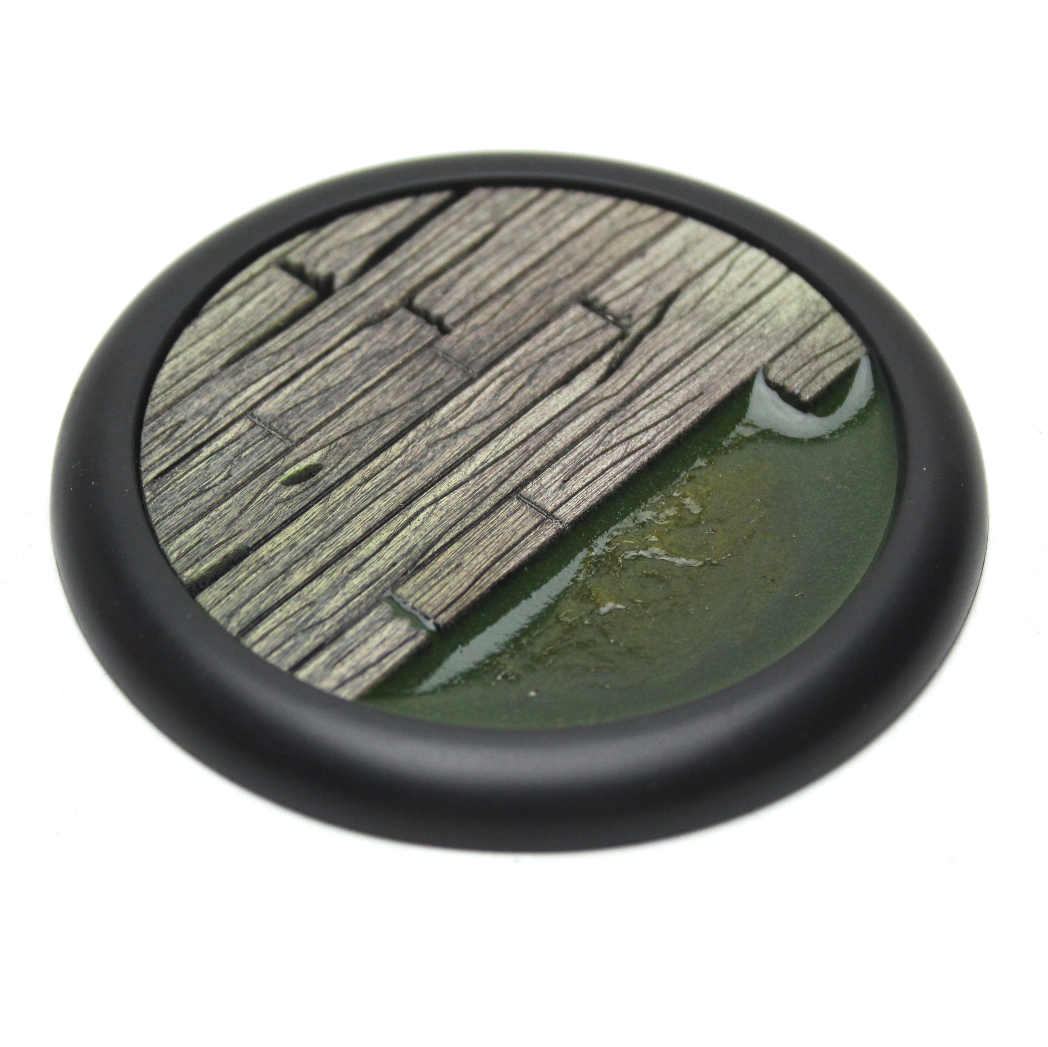 Wood Plank Base Insert Round Lip Deep With Recess