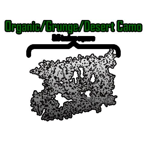 Organic Grunge Desert Camo Airbrush Stencil Death