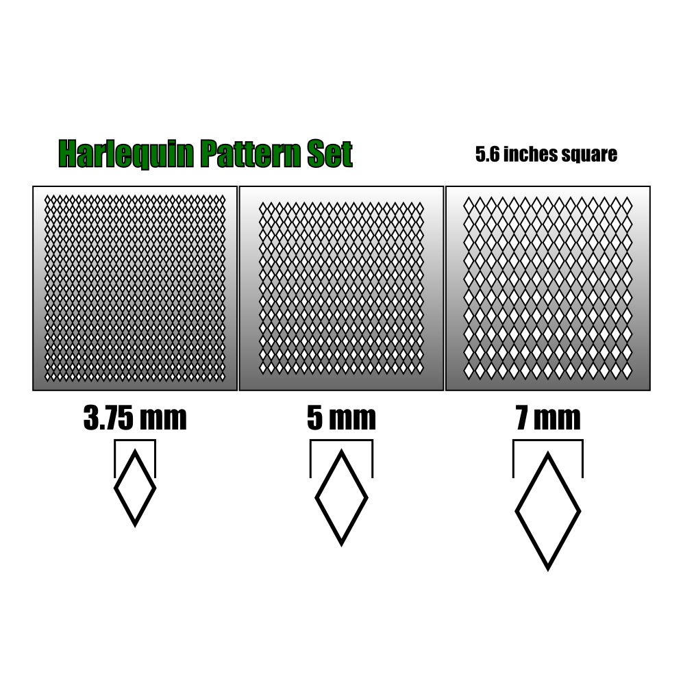 Harlequin Airbrush Stencils Death Ray Designs Tabletop